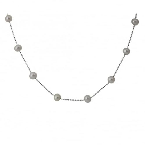 silver-freshwater-pearl-chain-necklace
