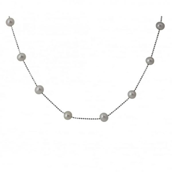 silver pearl chains sold by yard