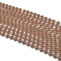 Peach-shell-pearl-beads-