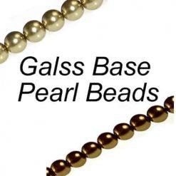 Perles de verre nacrées
