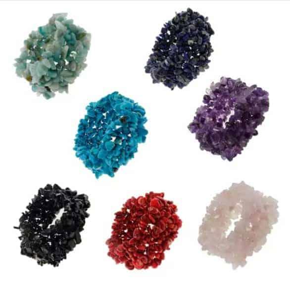 5cee0f3b5975 Gemstone chip stretch bracelets,sold by dozen(12pcs)