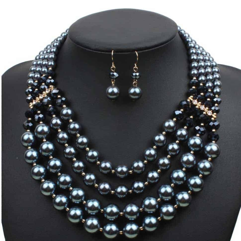 Cheap Pearl Necklace Sets: Fake Pearl Jewelry Sets For Wedding,Party,Prom Jewelry