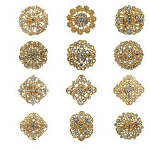 a319bb27a Rhinestone brooch female hand bouquet accessory pin 12pcs/set , sold by set  20-30mm - FromOcean.com