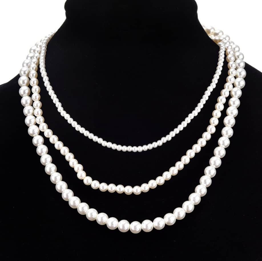 Pearl Beaded Multilayer Necklace