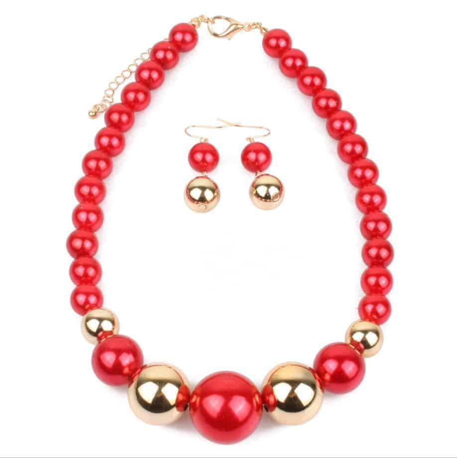 Cheap Pearl Necklace Sets: Wholesale Handmade Women Fashion Pearl Necklace Earring