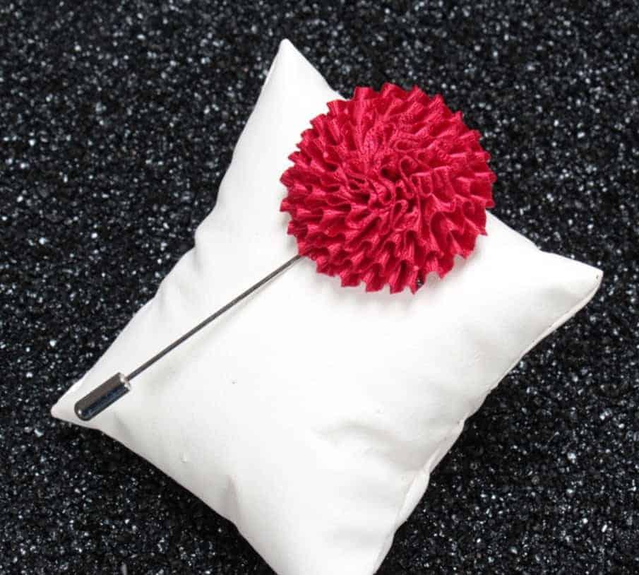 Silk Flower Lapel Pins Wholesale 16 Colors FromOceancom