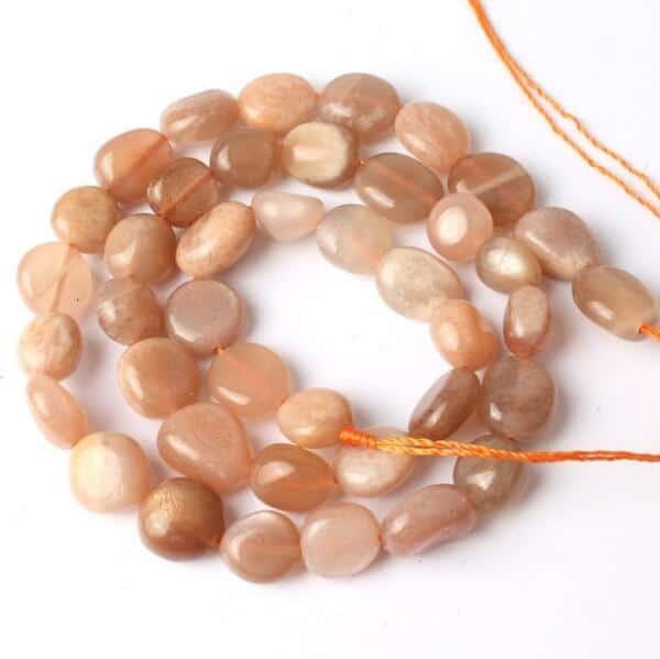 c674a37aebed Venta al por mayor natural 8-10mm irregular Sunstone piedras preciosas perlas  para la joyería que hace DIY 15inches-FromOcean.com