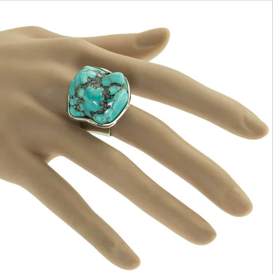 Men And Women Copper Vintage Free Shape Turquoise Ring Fromocean Com