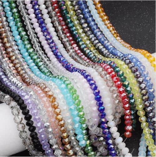 Rondelle Faceted Beads 4mm Czech