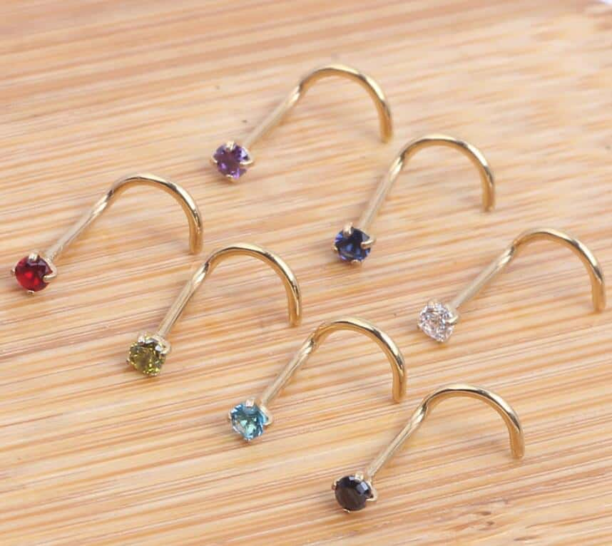 Wholesale Stainless Steel Piercing Jewelry Crystal Nose Ring